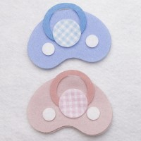 PINK AND BLUE PACIFIER