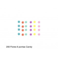 200 FLORES 6 POINTS CANDY 0,7CM