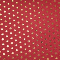 FELT COLLECTION JOY - RED STAR STAR GOLD 45X45CM