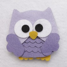 OWL LEAVE AWAY LILAC 5,5CM