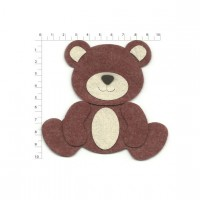 TEDDY BEAR SITTING BROWN 10CM
